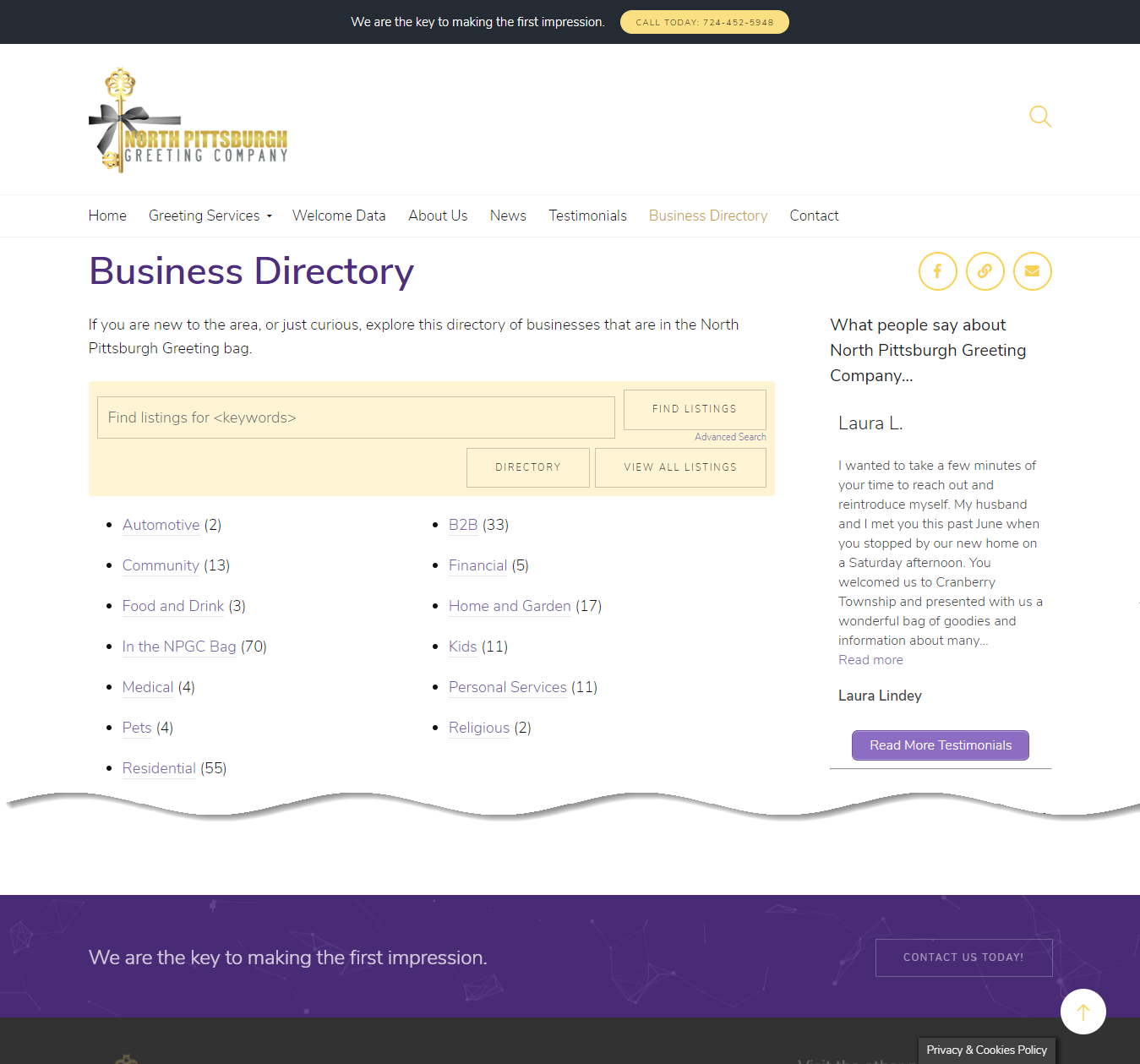 Directory Page